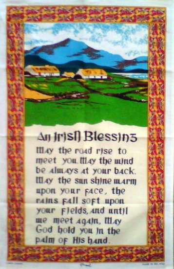 An Irish Blessing Linen Tea Towel