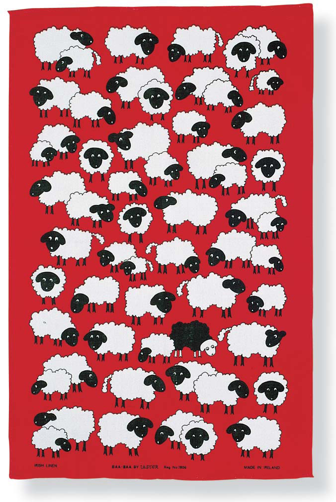 Baa Baa Linen Tea Towel
