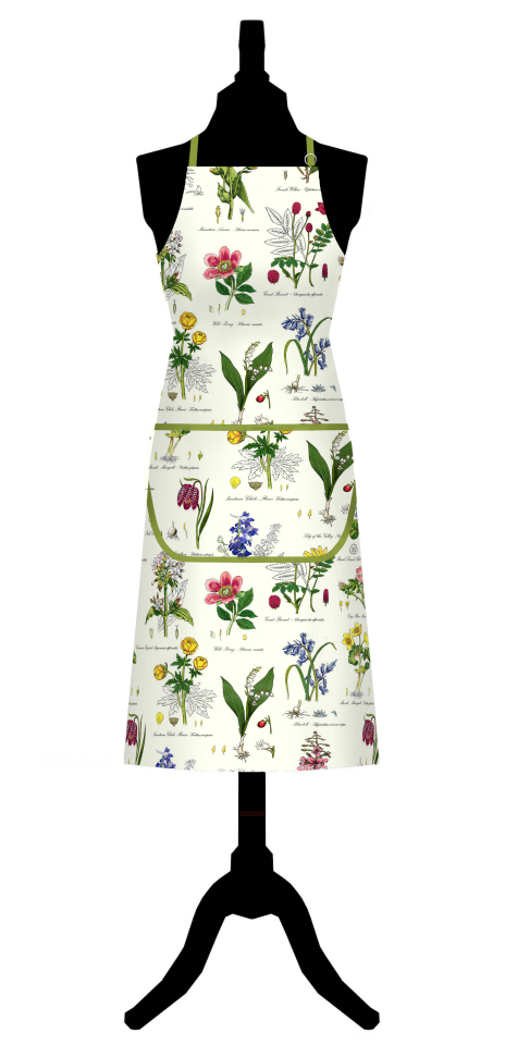 Botanic Garden Cotton Apron with Pocket