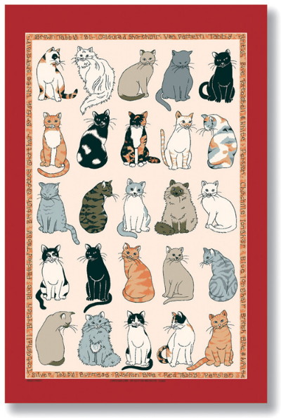 Cats Galore Linen Tea Towel