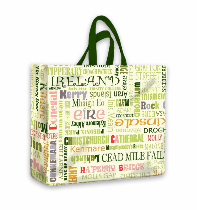 Celtic Towns PVC Medium Gusset Bag by Irish Looms