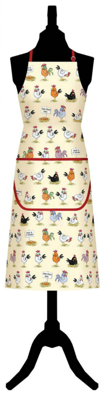 Chickens Cotton Apron with Pocket