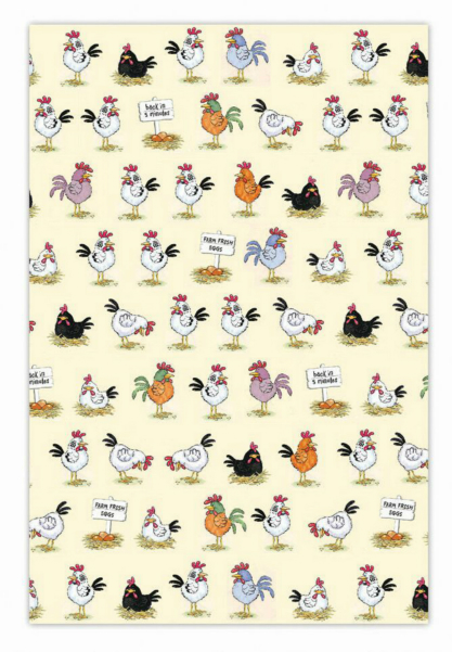 Chickens Cotton Tea Towel