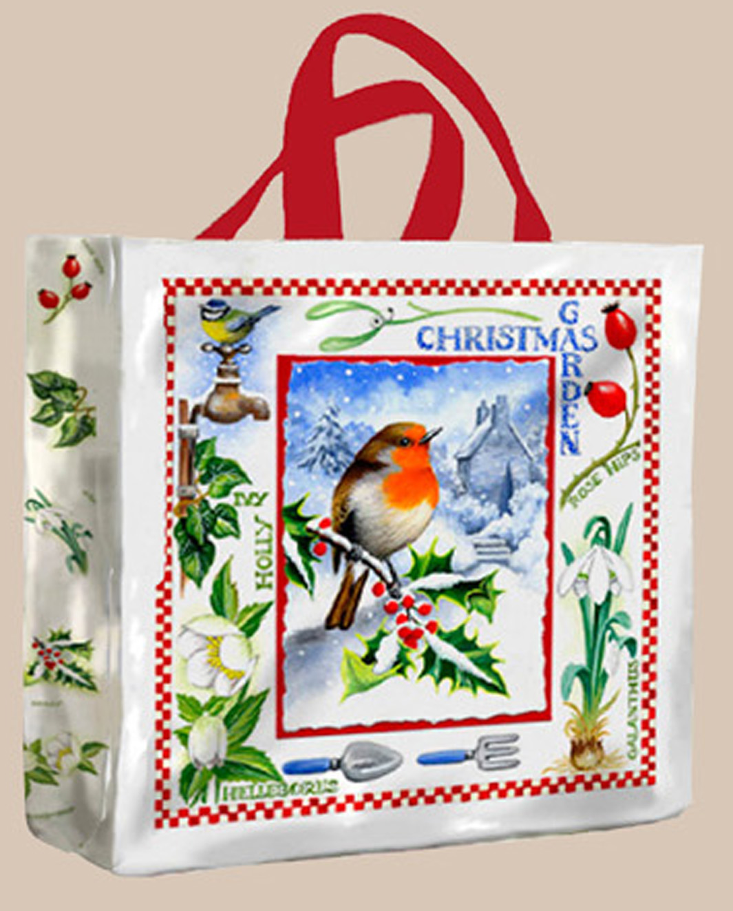 Christmas Garden PVC Gusset Bag Medium