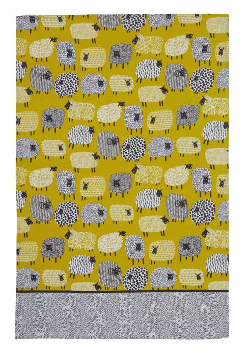 Dotty Sheep Cotton Tea Towel