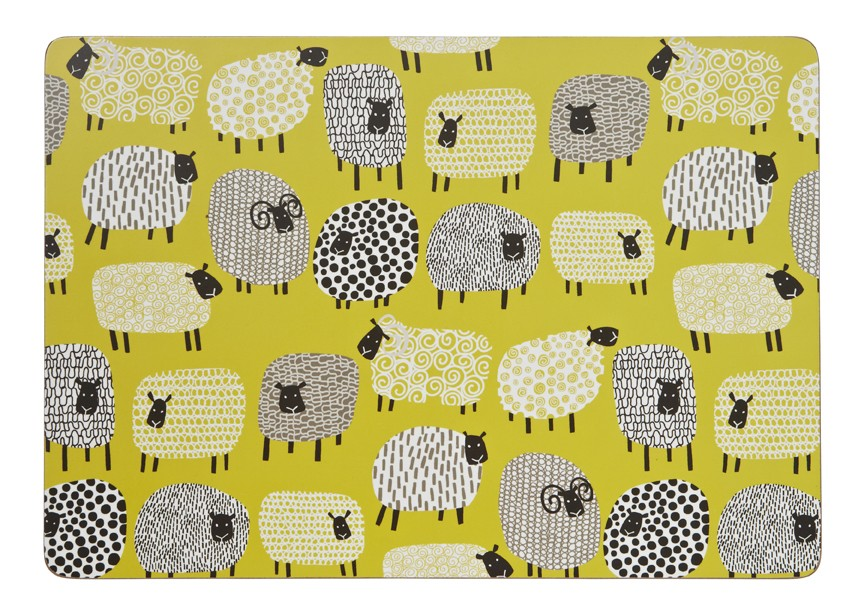 Dotty Sheep Placemats - Set of 4