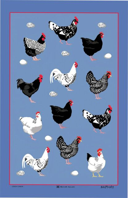 Hens Linen Union Tea Towel