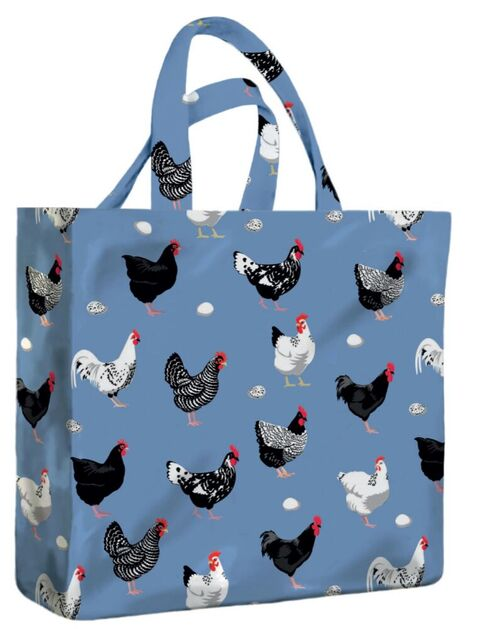 Hens PVC Medium Gusset Bag