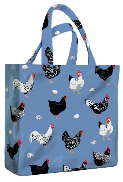 Hens PVC Mini Gusset Bag