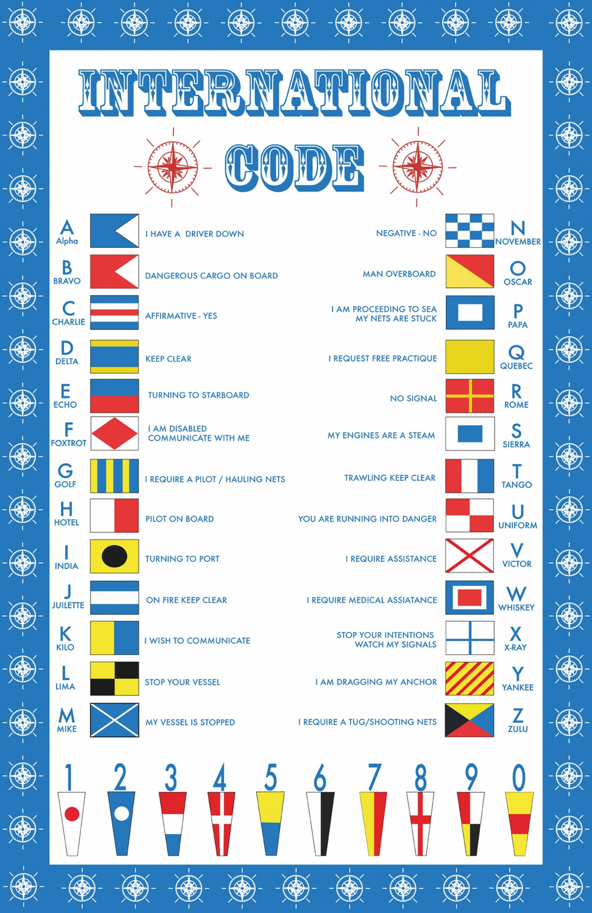 International Code 2 Cotton Tea Towel