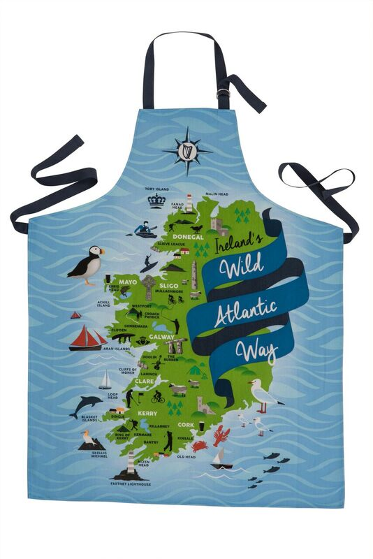 Ireland's Wild Atlantic Way Cotton Apron