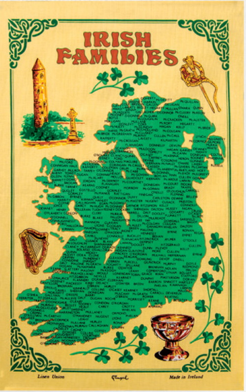 Irish Families Linen Union Tea Towel