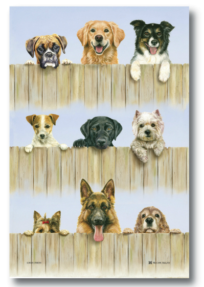 K9 Linen Union Tea Towel