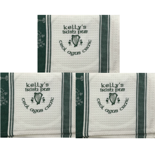 Kelly's Irish Pub Tea Towels - Personalized