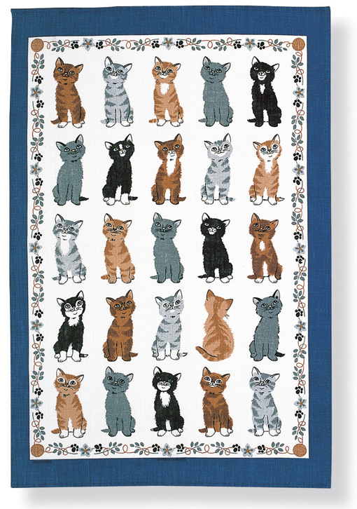 Kittens Arrived Linen Tea Towel