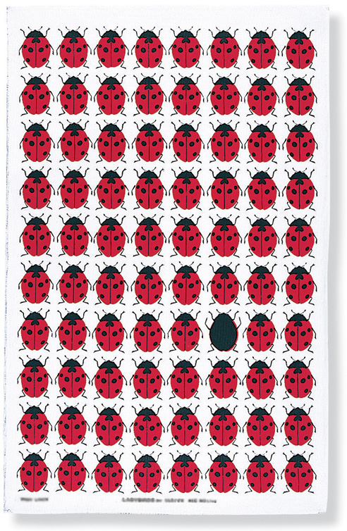 Ladybirds Linen Tea Towel