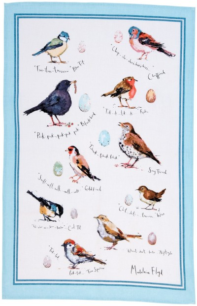 MF Birdsong Linen Tea Towel