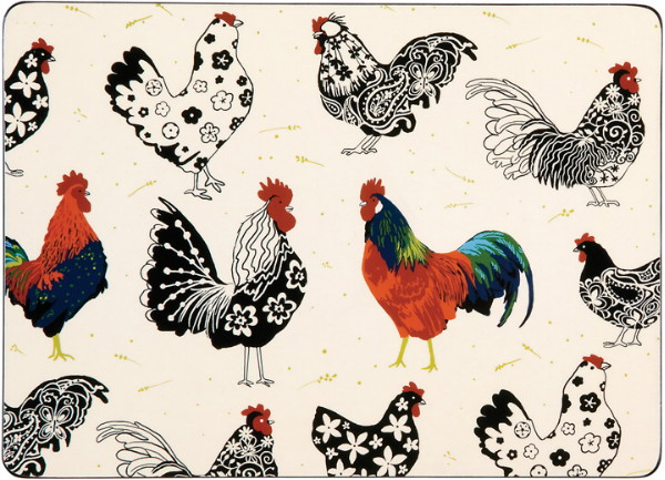 Rooster Placemats - Set of 4