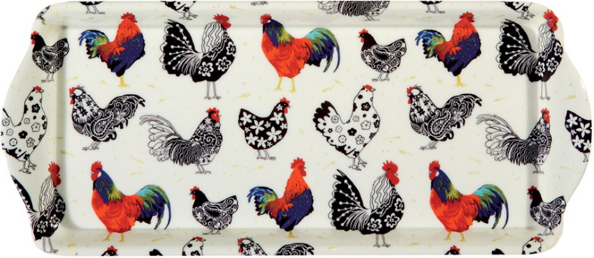 Rooster Small Melamine Sandwich Tray