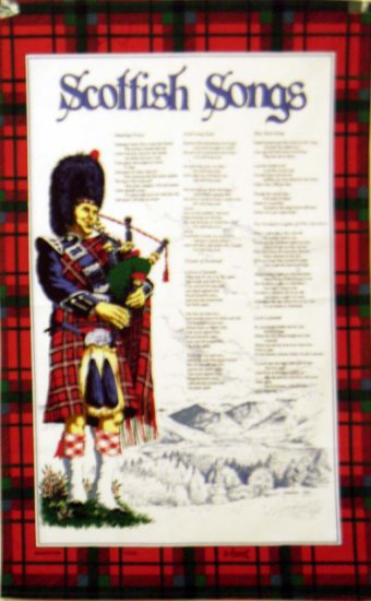Scottish Songs Cotton Tea Towel - Click Image to Close