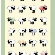 Sheepish Linen Union Tea Towel