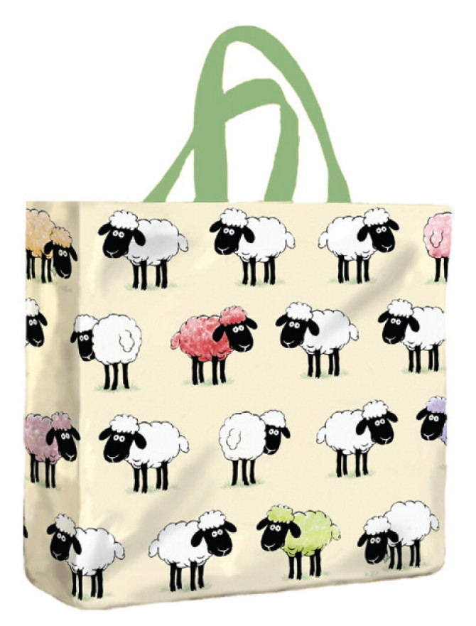 Sheepish PVC Mini Gusset Bag by McCaw Allan