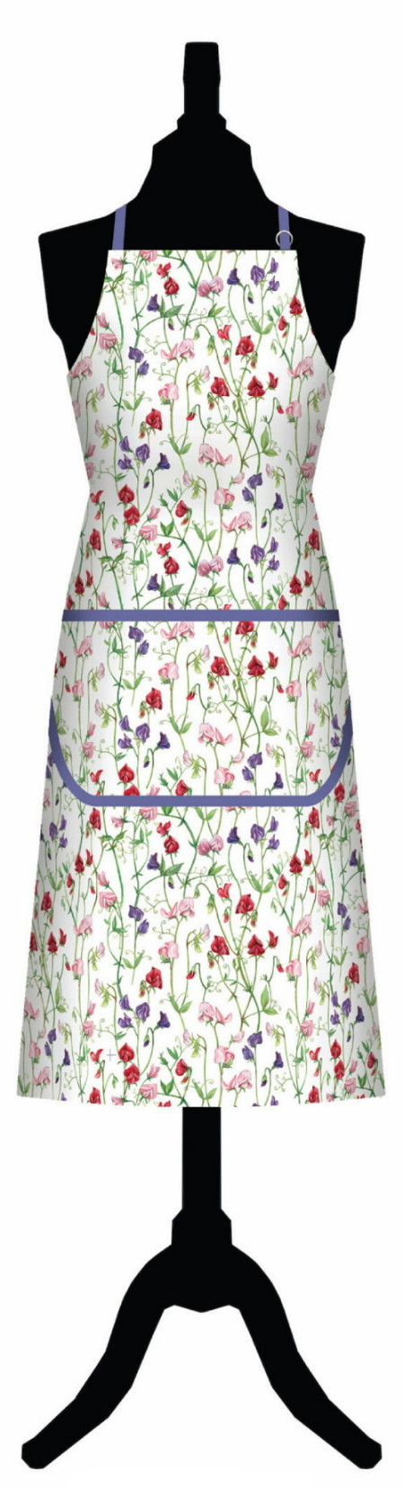 Sweet Pea Cotton Apron with Pocket