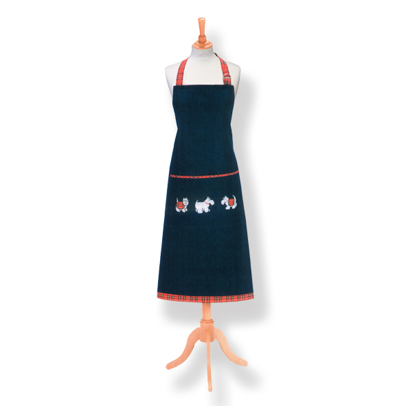 Tartan Terriers Cotton Apron