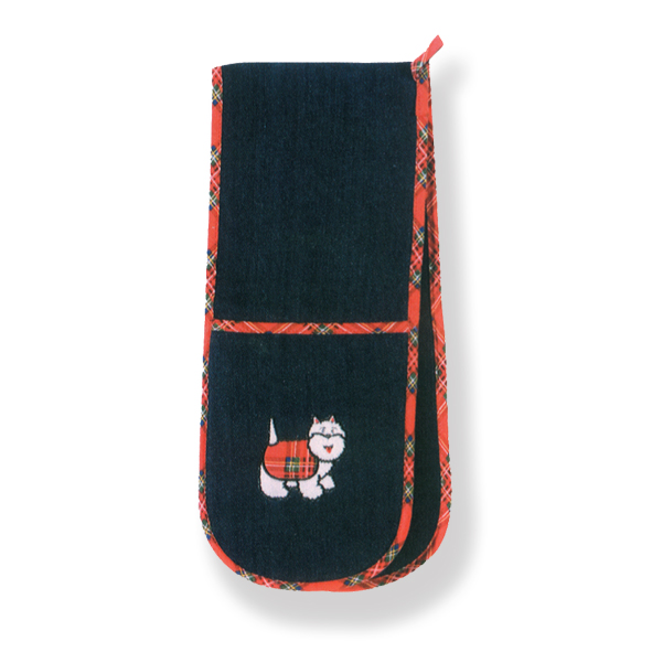 Tartan Terriers Double Oven Glove