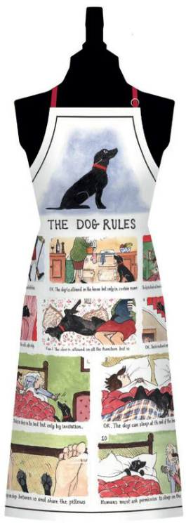 The Dog Rules Cotton Bib Apron
