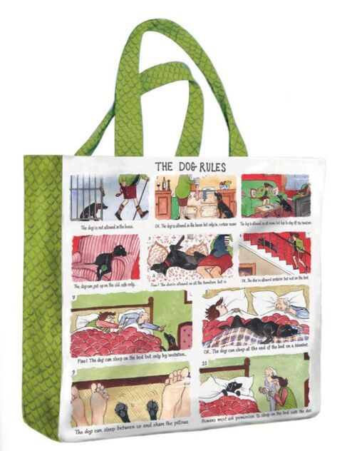 THE DOG RULES PVC MEDIUM GUSSET BAG