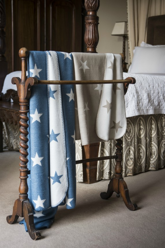 Bamboo Star Throws - Blue Star or Grey Star