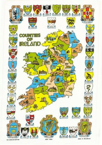 Counties of Ireland Cotton Tea Towel