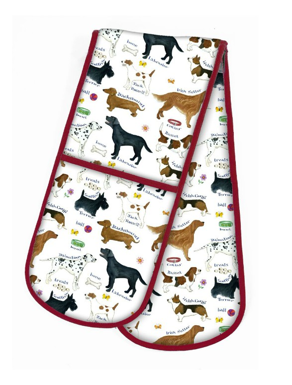 Dog Breeds Cotton Double Oven Gloves