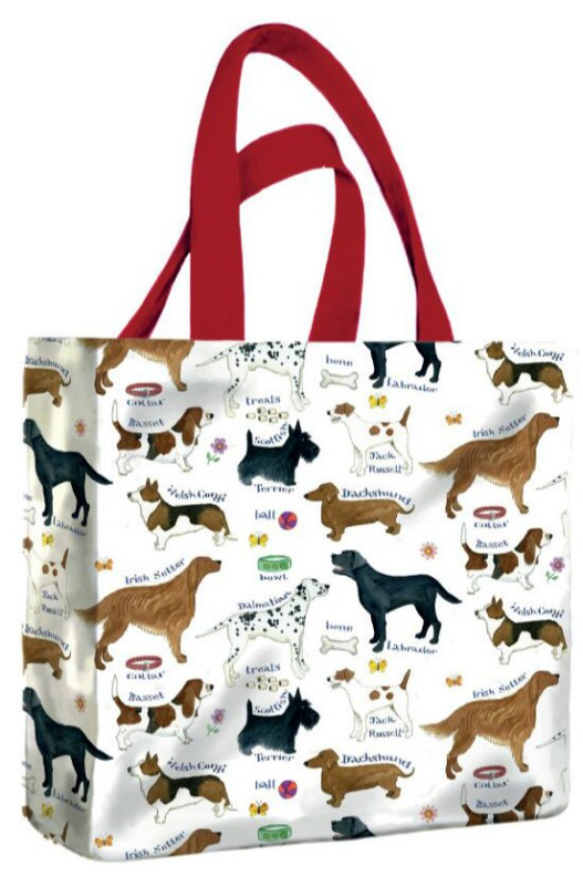 Dog Breeds PVC Mini Gusset Bag
