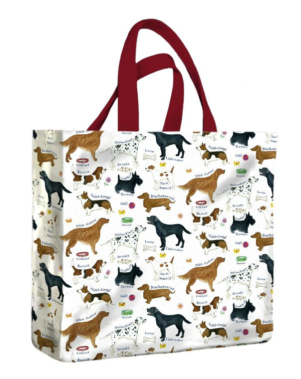 Dog Breeds PVC Medium Gusset Bag