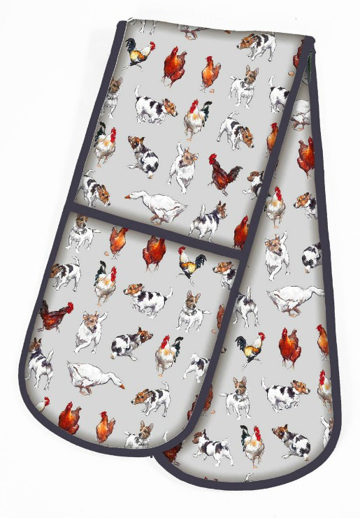 Farmyard Frolics Cotton Double Oven Glove