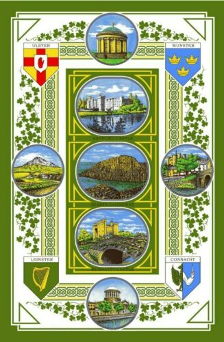 Four Proviences of Ireland Cotton Tea Towel