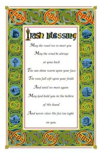 Irish Blessing Cotton Tea Towel