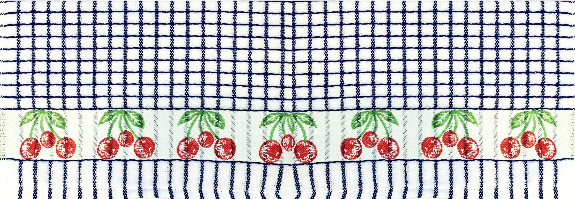Lamont Poli-Dri Jacquard Tea Towel - Cherries