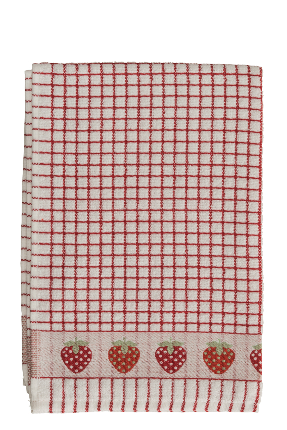 Lamont Poli-Dri Jacquard Tea Towel - Strawberries