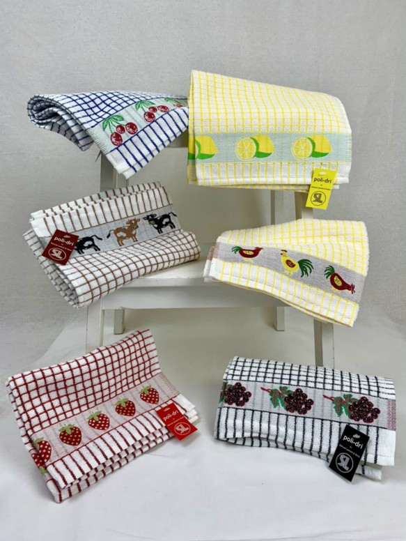 Lamont Poli-Dri Jacquard Tea Towels - Set of 6