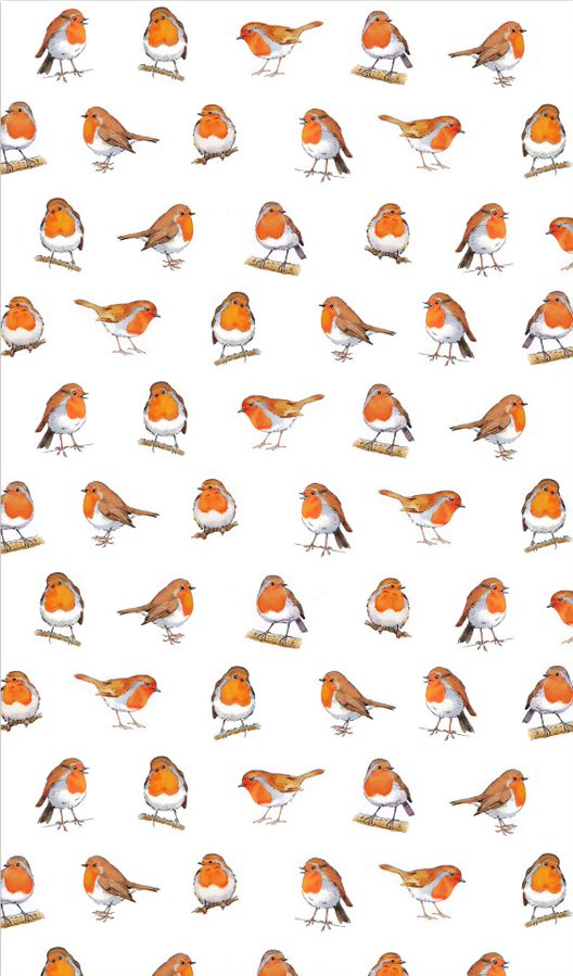 Little Robins Cotton Tea Towel